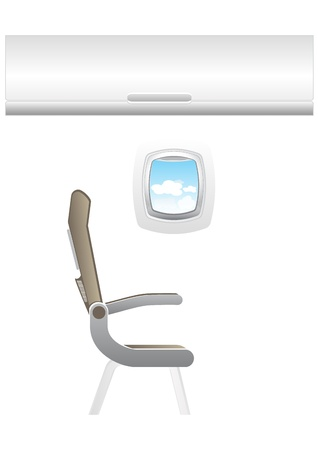 Illustration of plane - jet interior with seats