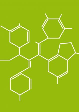 medical study: Illustrazione della formula chimica astratta