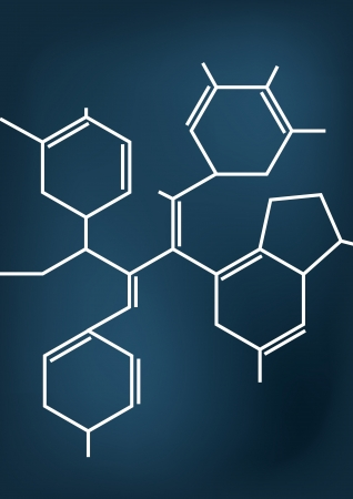 Illustration of Abstract Chemical formula