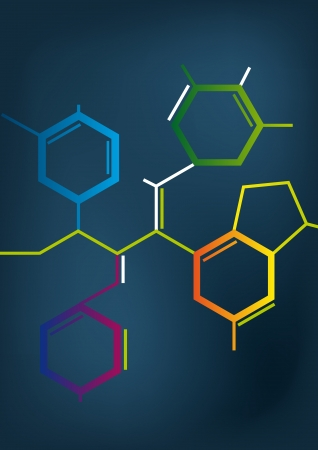 symbole chimique: Illustration de la formule du Chemical Abstract