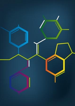 Illustration des Abstrakten Chemische Formel
