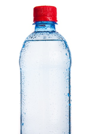 Plastic bottle of drinking water isolated on white Stock Photo - 17694103
