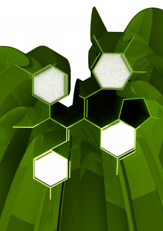 Abstract 3d chemical formula isolated on white Stock Photo - 18099261
