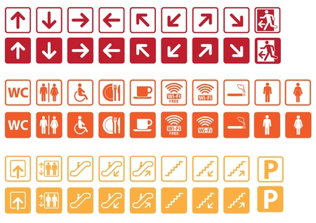 Navigation signs set Vector