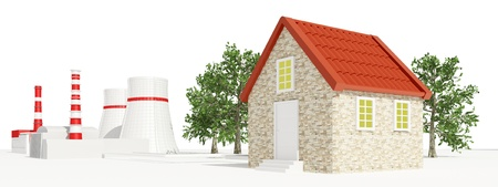 house warming: Nuclear Power Station