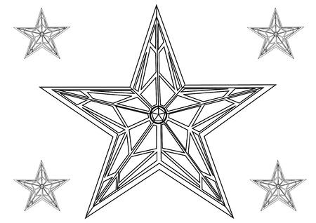 hollywood christmas: Vector star