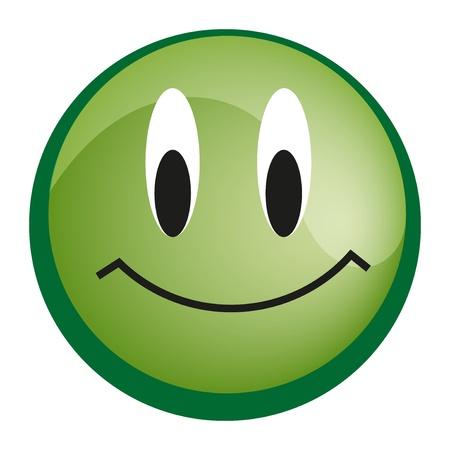 Emoticon with smiley face, yellow web icon Vector