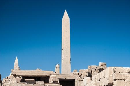 obelisk stone: Temple of Karnak, Egypt - Exterior elements Stock Photo
