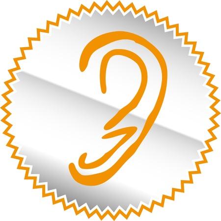 entendre: Senses icon set - Vector Illustration Illustration
