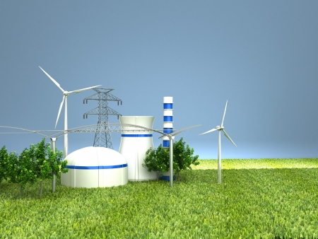 Energy Sources on the Green Earth photo