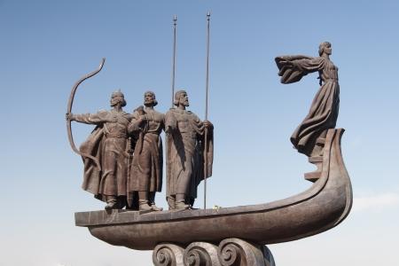 kyiv: Monument to founders of Kiev: Kiy, Schek, Khoryv and Lybid