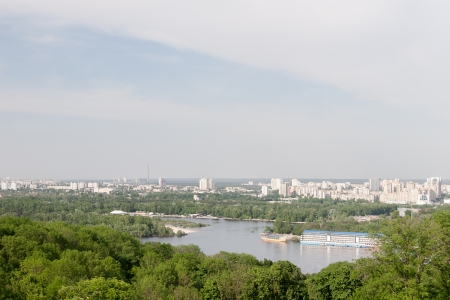 Kiev cityscape and Dnieper river, Ukraine photo