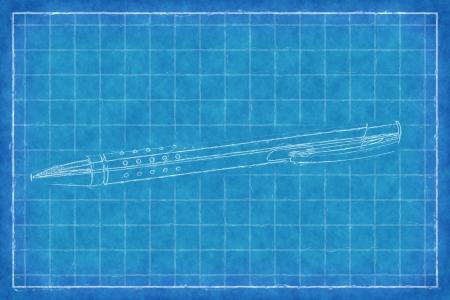 rollerball: Pen - Blue Print