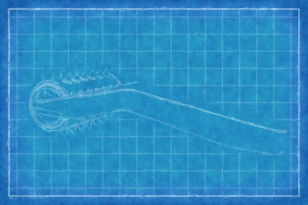 tumbler: plastic tumbler - Blue Print Stock Photo