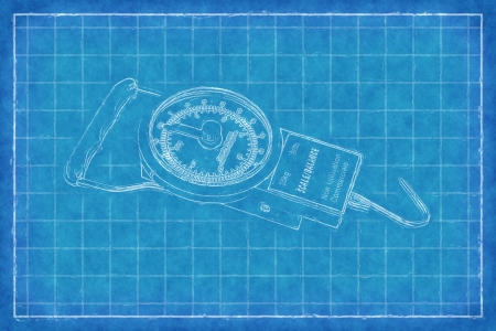 Kitchen scales - Blue Print photo