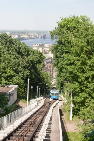 Railway funicular in Kyiv, Ukraine