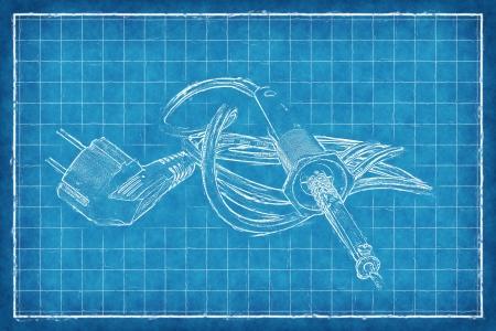 soldering: Soldering-iron - Blue Print