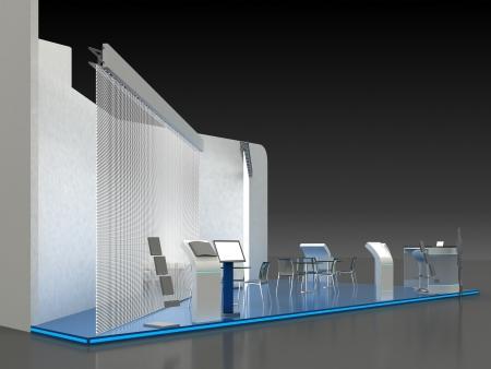 kiosk: Exhibition Stand Kiosk Interior Exterior