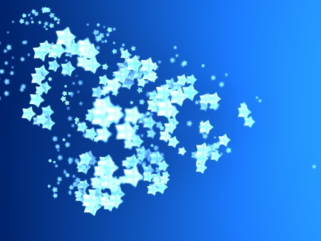 festoon: Shiny Stars Particles on smooth background Stock Photo