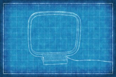 am radio: Radio AM antenna - Blue Print