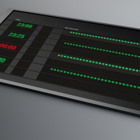 train table: Electronic Timetable