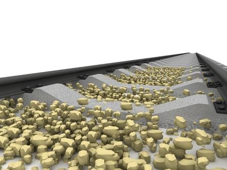 converge: Railway isolated on white