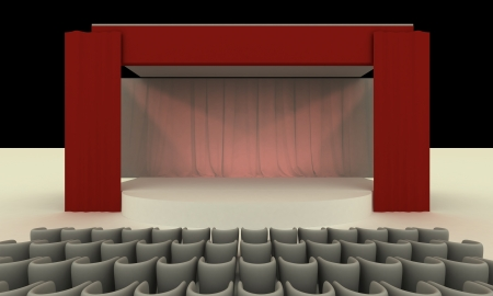Stage - View from seat rows photo