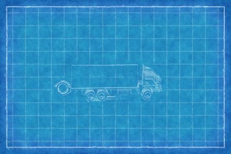 dumptruck: Toy truck - Blue Print