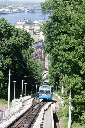 Railway funicular in Kyiv, Ukraine photo