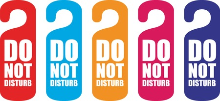do not disturb door hanger photo