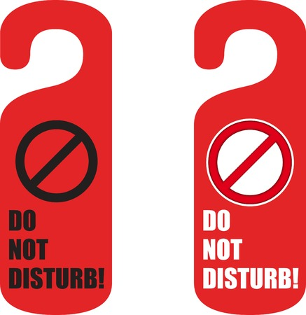 do not disturb door hanger Фото со стока