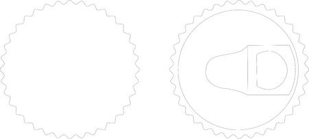 オープナー: 白の栓抜きのイラスト
