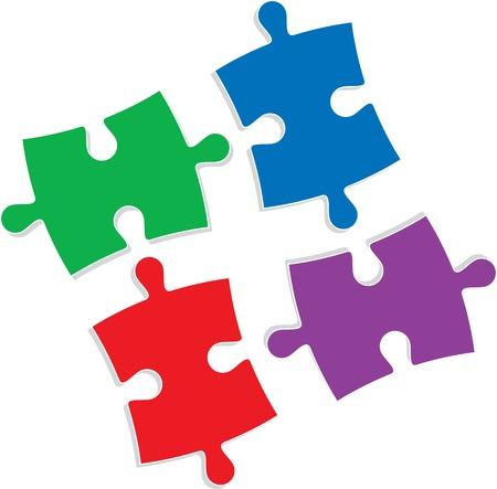 Puzzle vector illustration Çizim