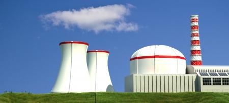 Nuclear Power Station  - 3d Illustration illustration