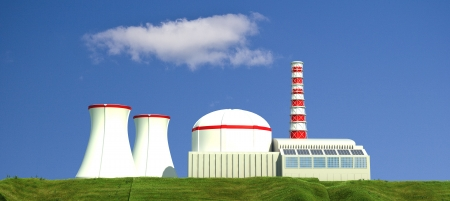 Nuclear Power Station  - 3d Illustration illustration