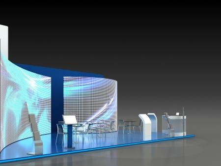 exhibition: Exhibition Stand Interior - Exterior Sample Stock Photo