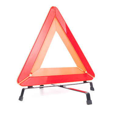 Car emergency sign isolated on white background Stock Photo - 25568613
