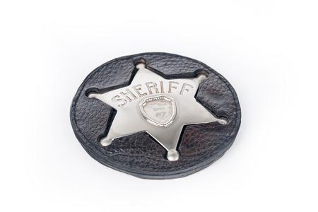 sheriffs: Sheriffs badge isolated on white