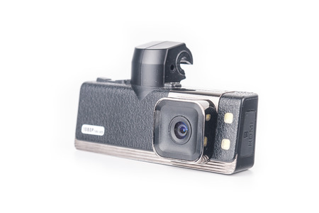 Car video recorder isolated on white background photo