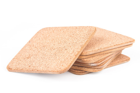 Coasters isolated on white background photo