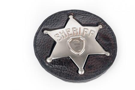 sheriffs: Sheriffs badge isolated on white background