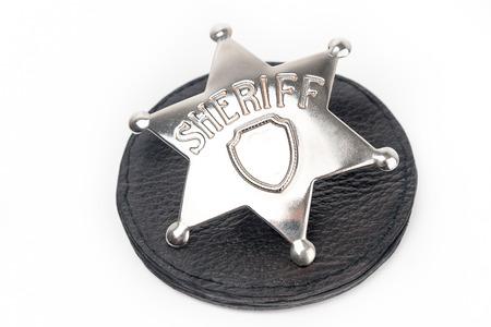 sheriffs: Sheriffs badge isolated on white Stock Photo