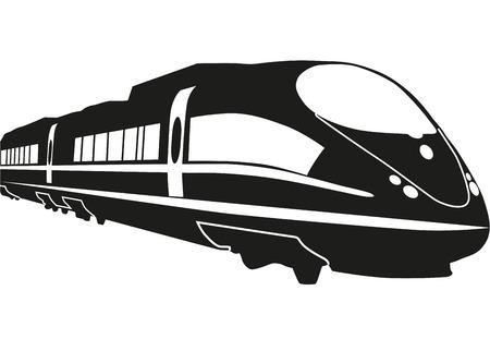 Vector illustration of modern black rapid train
