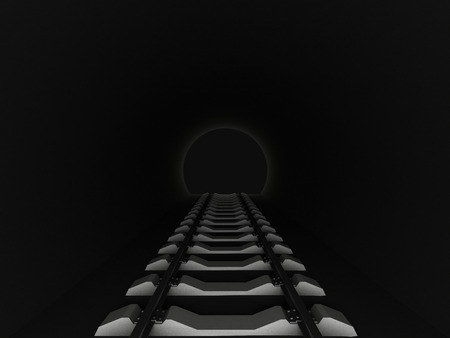 thoroughfare: 3d illustration of Entrance to railway tunnel