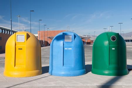 separacion de basura: Contenedores de basura