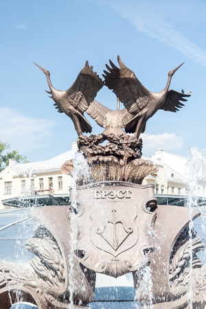 minsk: Exterior of fountain on Independance Square, Minsk
