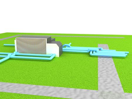 gas distribution: Gas distribution station