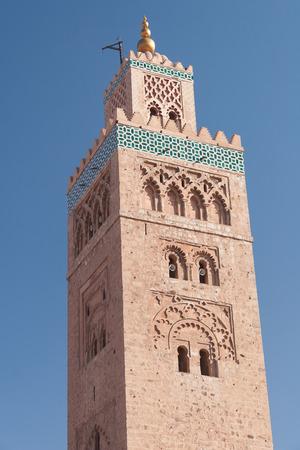 Koutoubia Mosque near Jemaa El Fna in Marrakesh, Morocco photo