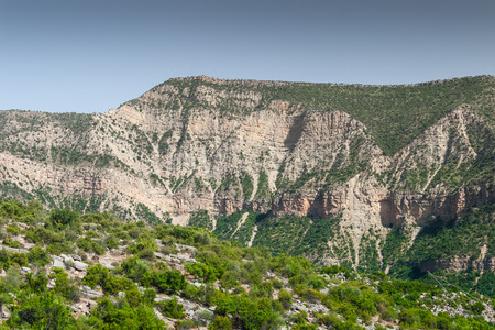 paisagem: Landscape of Morocco at summer. Atlas mountains Imagens