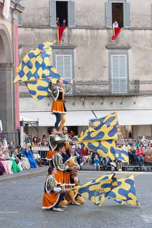 festa: Acquapendente, ITALY - MAY 18 2014 - Festa dei Pugnaloni, Festival in the City Center